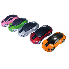 Wireless Mouse Car Shape Design Optical USB For Computer Laptop Game 1800DPI