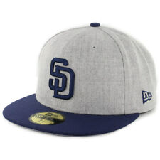 "New Era 5950 San Diego Padres ""Heather Action"" Fitted Hat (HGY/LNV) MLB Cap"