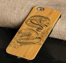 DIY Engraving Wood Bamboo Cell Phone Case for i Phone 6/6s/6plus/6splus/7/7plus