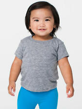 American Apparel Kids Infant Tri-Blend T-Shirt - Sizes 3 mos - 2T. Athletic Grey