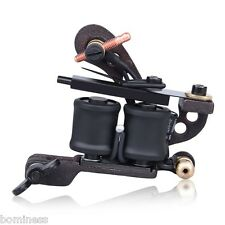 Pro Top Quality Iron Tattoo Machine 10 Wrap Coils Liner Shader Gun Classic Frame