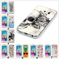 HD Slim Clear Soft Silicon TPU IMD Rubber Gel Back Case Cover For iPhone/Samsung