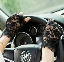 Wedding Bridal Evening Formal Party Lace Driving Fingerless Gloves UV Protection