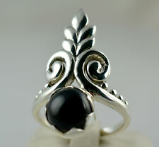Black Onyx Silver Ring 925 Solid Sterling Silver Handmade Jewelry Size F to Z1/2