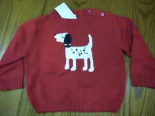 NWT GYMBOREE RED DALMATIAN Pull-over SWEATER Infant  0-3 mo OR 3-6 mo OR 6-12 mo