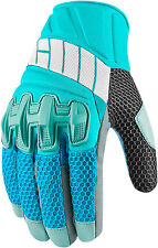 Icon Overlord Womens Mesh Gloves Blue