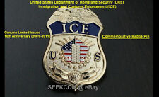 DHS ICE ERO HSI CBP BP FPS NYPD IMMIGRATION CUSTOMS 9/11 POLICE LAPEL Badge PIN