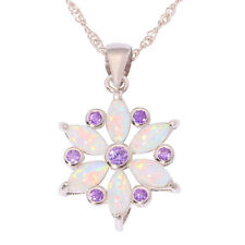 White Fire Opal Amethyst Pink Topaz Silver for Women Jewelry  Pendant OD6492-93