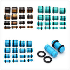 Synthetic Turquoise Ear Plugs Tunnels Expander Stretcher Piercing Gauge 4mm-16mm