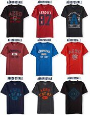 NWT Aeropostale Men 3XL Graphic T Shirt XXXL Blue,Black,Red,Grey,Burgundy 3X New