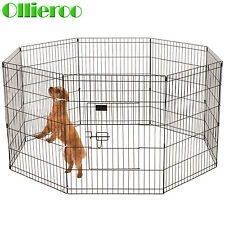 Ollieroo Heavy Duty 8 Panel Pet Playpen Dog Cage Exercise Best Pen Cat Fence