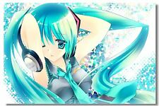 Poster Silk Hatsune Miku Vocaloid Music Anime Kakashi Japan Anime Room Print 508