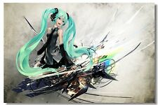 Poster Silk Hatsune Miku Vocaloid Music Anime Kakashi Japan Anime Room Print 512