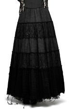 Long skirt black witch with bas ragged, gothic witchy bus Punk Rave