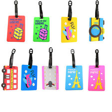 Cartoon Cute Luggage Tags Suitcase Label Bag PVC Name Address Card Travel