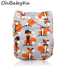Ohbabyka Popular Washable Reusable Ajustable Cloth Baby Pocket Diapers Nappy