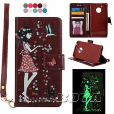 Night light wallet mobile phone case For Moto G5/Plus pu leather patterns cover