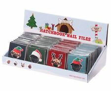 Christmas Pugs & Kisses Novelty Mini Matchbook Nail Files Gift Stocking Filler