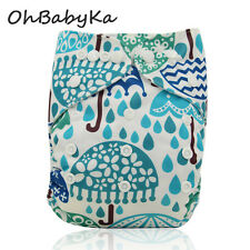 10Onbabyka Baby Adjustable Washable Reusable Cloth Diapers Nappies+10Inserts Lot