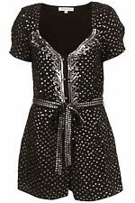 KATE MOSS TOPSHOP ICONIC SEQUIN PLAYSUIT UK 8, 14 US 4 10  EUR  38 42 £90  BNWT