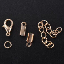 Lobster Clasp Jump Ring Fold Over Cord Ends Finding Extender Chain DIY Jewelry