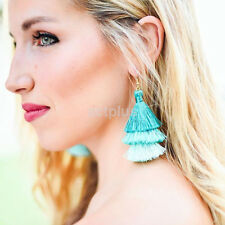 New Fashion Three Color Ethnic Tassel Hook Dangle Drop Earrings Women Jewelry CA