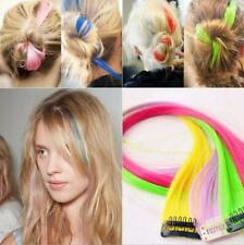 """New Funky Colourful Streak 22"""" Clip in Hair Extensions Range colors party Lot"""