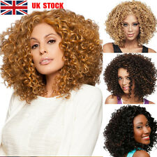 Womens Ladies Natural Short Wavy Curly Cosplay Party Casual Afro Full Wigs Hair
