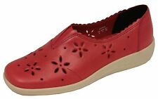 Ladies' Slip On Casual Shoes Hotter Dazzle Coral UK Size 5, 6.5 (EU Size 38, 40)