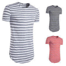Striped T-Shirt Summer Men T-shirt Man Casual T-shirt 1Pcs O-Neck Short-Sleeved