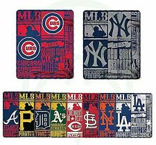 "60"" Vintage Strength Design Yankees Cubs Dodgers Baseball Team Fleece Blankets"