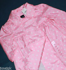 baby Gap NWT Girls 6 12 Mo Baby Doll Trench Coat Jacket Pink w White Dots