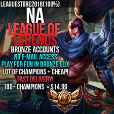 LOL Account League of Legends Account NA  Unranked Smurf Level 30 Bronze Acc