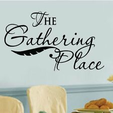 Enchantingly Elegant 'The Gathering Place' Vinyl Letters Words Wall Decal