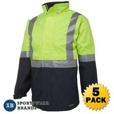 5 x Hi Vis Day Night Jacket 3M Tape Waterproof Workwear Safety Size S-5XL 6DATJ
