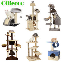 Cat Tree Condo Furniture Pet Play House Tower Scratching Post Kitten Toy Bed