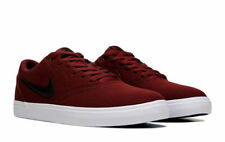 NIKE MENS SB CHECK SOLAR CANVAS BURGUNDY SKATE SHOES  **WORLDWIDE SHIPPING
