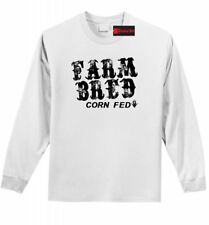 Farm Bred Corn Fed Long Sleeve T Shirt Cute Country Cowgirl Graphic Tee Z1