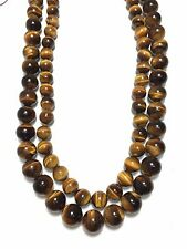 1 Strand Tiger Eye Gemstone Smooth Round Ball Beads Jewelry Making Beads