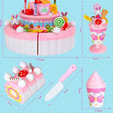 Girl Birthday Cheerful Double 1 PC Kitchen Toy Layer Birthday Cake Gift Child