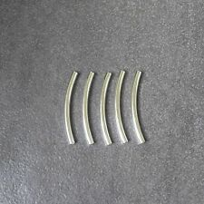 5pcs,925 Sterling Silver,Curved Round Tube Spacer,Beads,47mm*4mm,28mm*6.3mm.