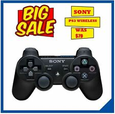 NEW PS3 Dualshock Wireless Black Controller for Sony Playstation 3