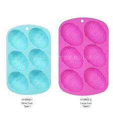 DIY 6 Cup Food Grade Cake Mould Tray Baking Mold Pudding Jelly Mould New R9C9