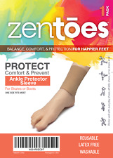 ZenToes Gel Lined Ankle Sleeve Pads Protector Skates Boots Heel Blister