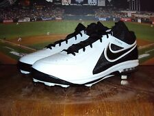 NIKE AIR MAX MVP ELITE 3/4 METAL MEN'S BASEBALL CLEATS WHITE / BLACK