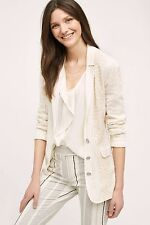 NWT ANTHROPOLOGIE LUPE IVORY LACE BLAZER by CARTONNIER XS
