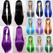 Hot Sale Glueless Cosplay Wig Colorful Heat Resistant Synthetic Hair Halloween