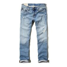 New Abercrombie & Fitch Men's Destroyed Classic Straight Button Fly Jeans
