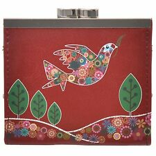 Shagwear Women's Peace Love And Dove Vegan Leather Clasp Coin Purse