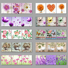 Flowers Birds Canvas Wall Art Painting Pictures Decor Abstract Frame Butterfly A